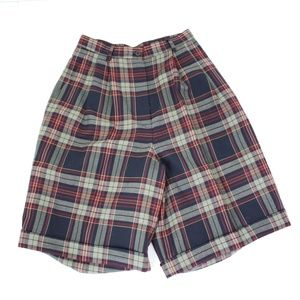 Vintage Talbots Plaid High Waisted Plaid Shorts